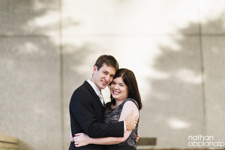 Engagement photos in uptown charlotte nc