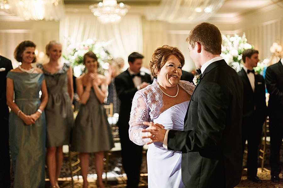 Groom dances with his mother at the Carmel Country Club