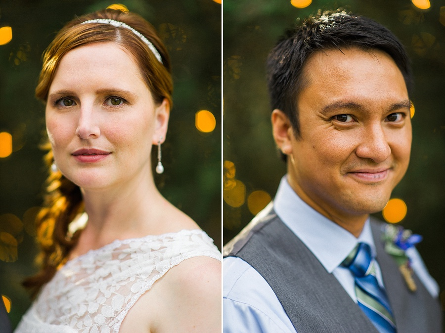 Portraits of Bride and Groom at the Oaks at Salem in Apex NC