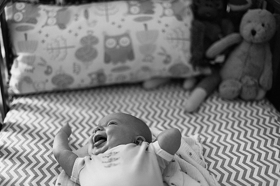 A baby in her crib in Charlotte NC