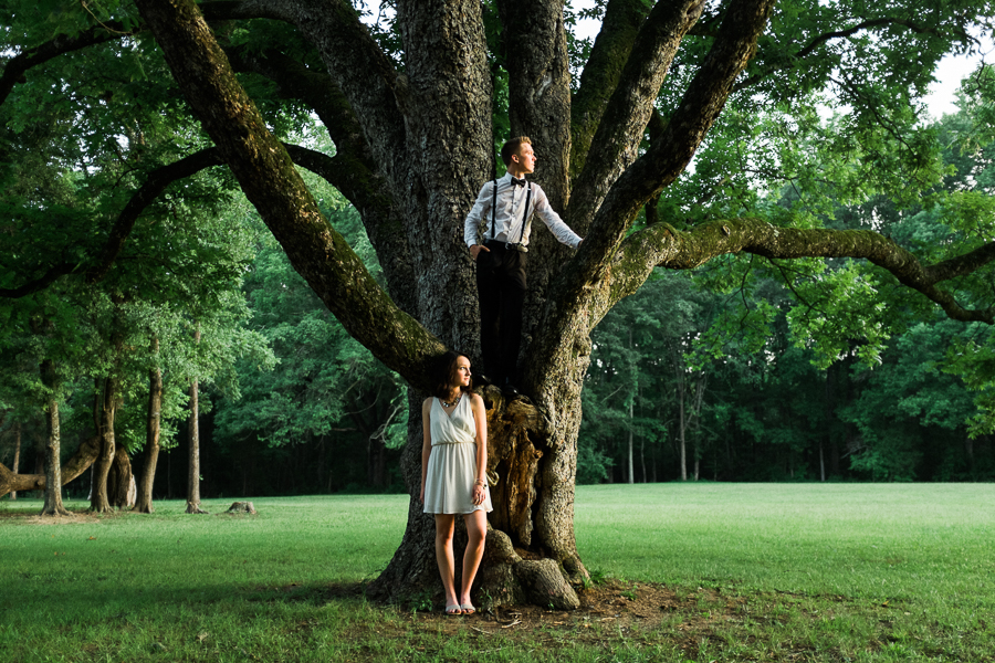 Engagement Session in Large Tree in Charlotte, NC
